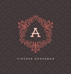 Vintage monogram logo vector