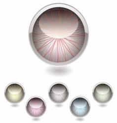 Iris button collection vector