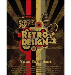 Retro grunge concert poster vector