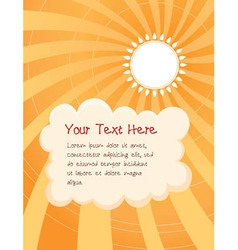 Sunny day cartoon background vector