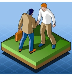 Isometric infographic business agreement - vector