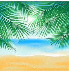 Summer sea beach vector