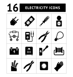 Set icons of electricity vector
