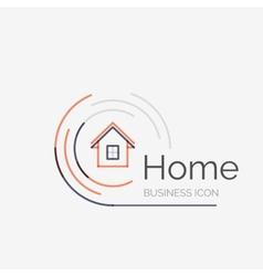 Thin line neat design logo home idea vector