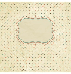 Vintage polka dot card vector