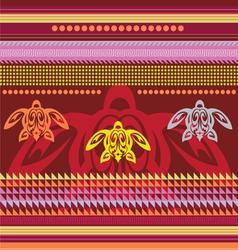 Ornamental african style motive vector