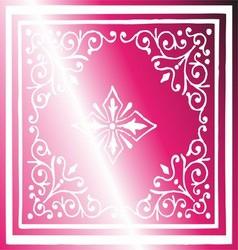 Vintage border background antique ornament pink vector