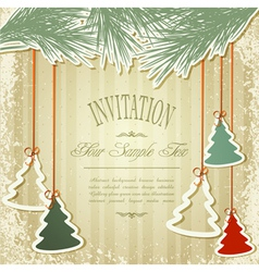 New years holiday background with hanging herringb vector