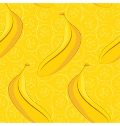 Seamless pattern of yellow banana vector
