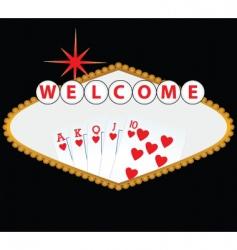Las vegas and casino vector