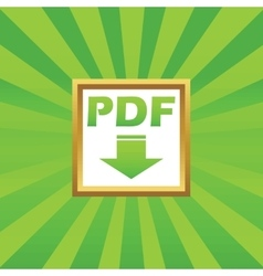 Pdf download picture icon vector