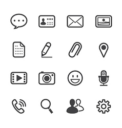 Chat application icons vector