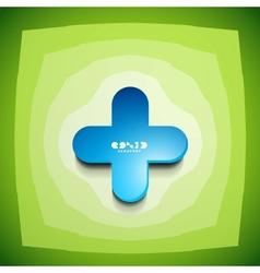 Creative color clean cross sign vector