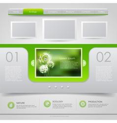 Web site design ecology background vector