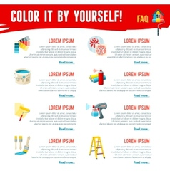 Painting work infographics vector