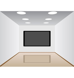 Room with a plasma tv vector