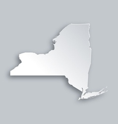 Map of new york vector