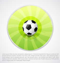 Football design with space for your text vector