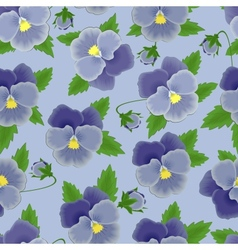 Blue pansies seamless background vector