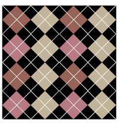 Argyle black seamless pattern design vector