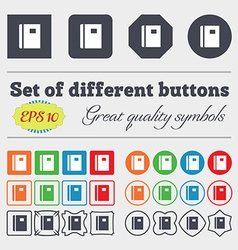Book icon sign big set of colorful diverse vector
