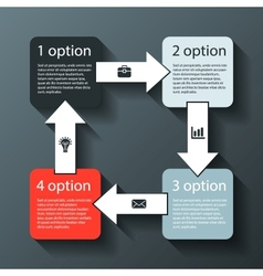 Modern info graphic for business project vector