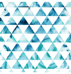 Watercolor triangles pattern modern hipster vector
