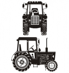 Tractor silhouette vector