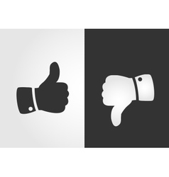 Like and dislike icon flat design vector