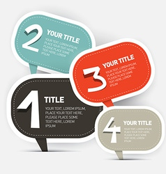 Paper four steps infographics layout vector