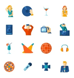 Night club icon flat vector