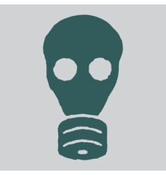 Isolated gas mask grunge vector