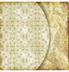 Retro background with vintage floral patterns vector
