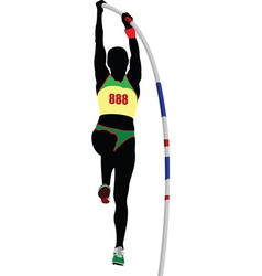 Pole vaulting vector