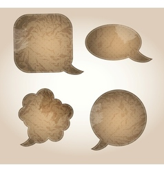 Aged paper speech bubbles vector