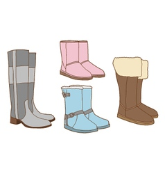 Fashion women boots vector