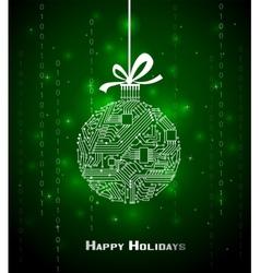 Hi-tech christmas background vector