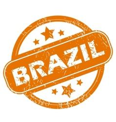 Brazil grunge icon vector