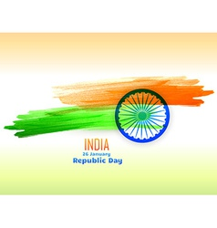 Republic day design made with color strokes vector