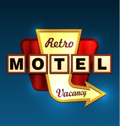 Motel roadsign vector