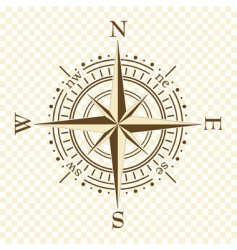 Brown compass vector