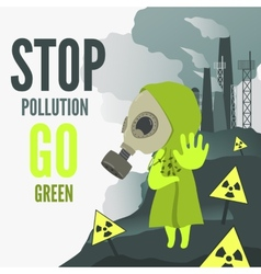 Stop environmental pollution vector