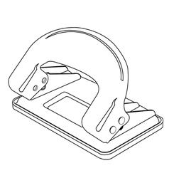 Paper punch outline vector