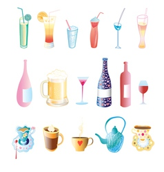 Different drinks vector