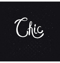 Chic text on dotted abstract black background vector