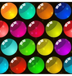 Background with glass multicolor balls vector
