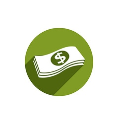 Money stack icon isolated vector