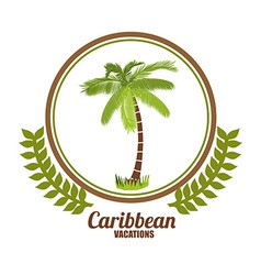 Caribbean design vector