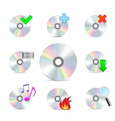 Cd dvd disk set vector
