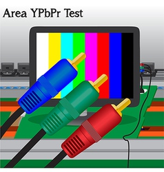 Av signal test in process production television of vector